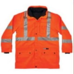 Ergodyne GloWear 8385 Class 3 4-in-1 Premium Jacket - Hi-Viz Orange
