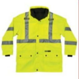 Ergodyne GloWear 8385 Class 3 4-in-1 Premium Jacket - Hi-Viz Lime