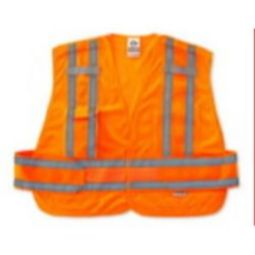 Ergodyne GloWear 8244PSV-ORANGE Expandable Public Safety Vest - Hi Viz Orange