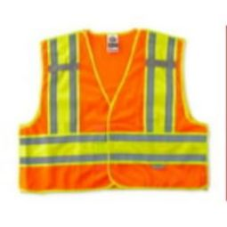 Ergodyne GloWear 8245PSV-ORANGE Public Safety Vest - Hi Viz Orange