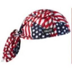 Ergodyne Chill-Its 6615 High-Performance Dew Rag - Stars/Stripes