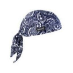 Ergodyne Chill-Its 6615 High-Performance Dew Rag - Navy/Western