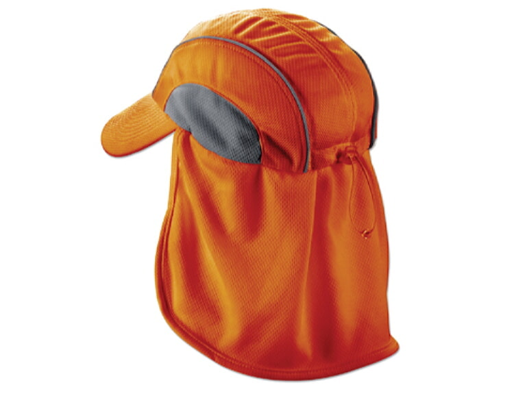 1515b5a6da9 Ergodyne Chill-Its 6650 High Performance Hat w  Neck Shade - Orange