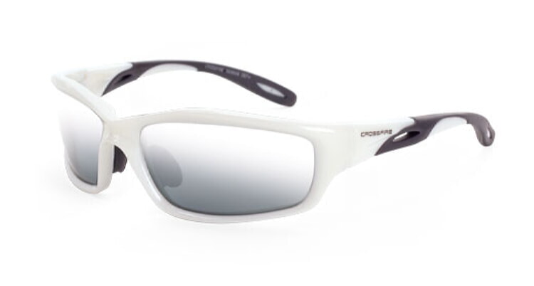 Crossfire Infinity with Silver Mirror Lens,  Pearl White Frame