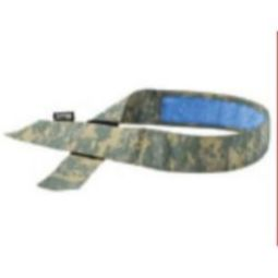 Ergodyne Chill-Its 6705CT Cooling Hook Bandana w/ Towel-Camo