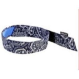 Ergodyne Chill-Its 6705CT Cooling Hook Bandana w/ Towel-Navy/Western