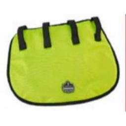 Ergodyne Chill-Its 6670CT Evaporative Hard Hat Neck Shade w/Towel-Lime