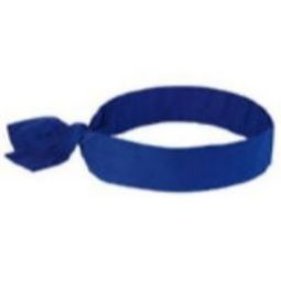 Ergodyne Chill-Its 6700 Evaporative Cooling Tie Bandana - Solid Blue
