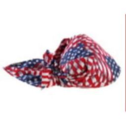 Ergodyne Chill-Its 6710 Evaporative Cooling Triangle Hat-Stars/Stripes