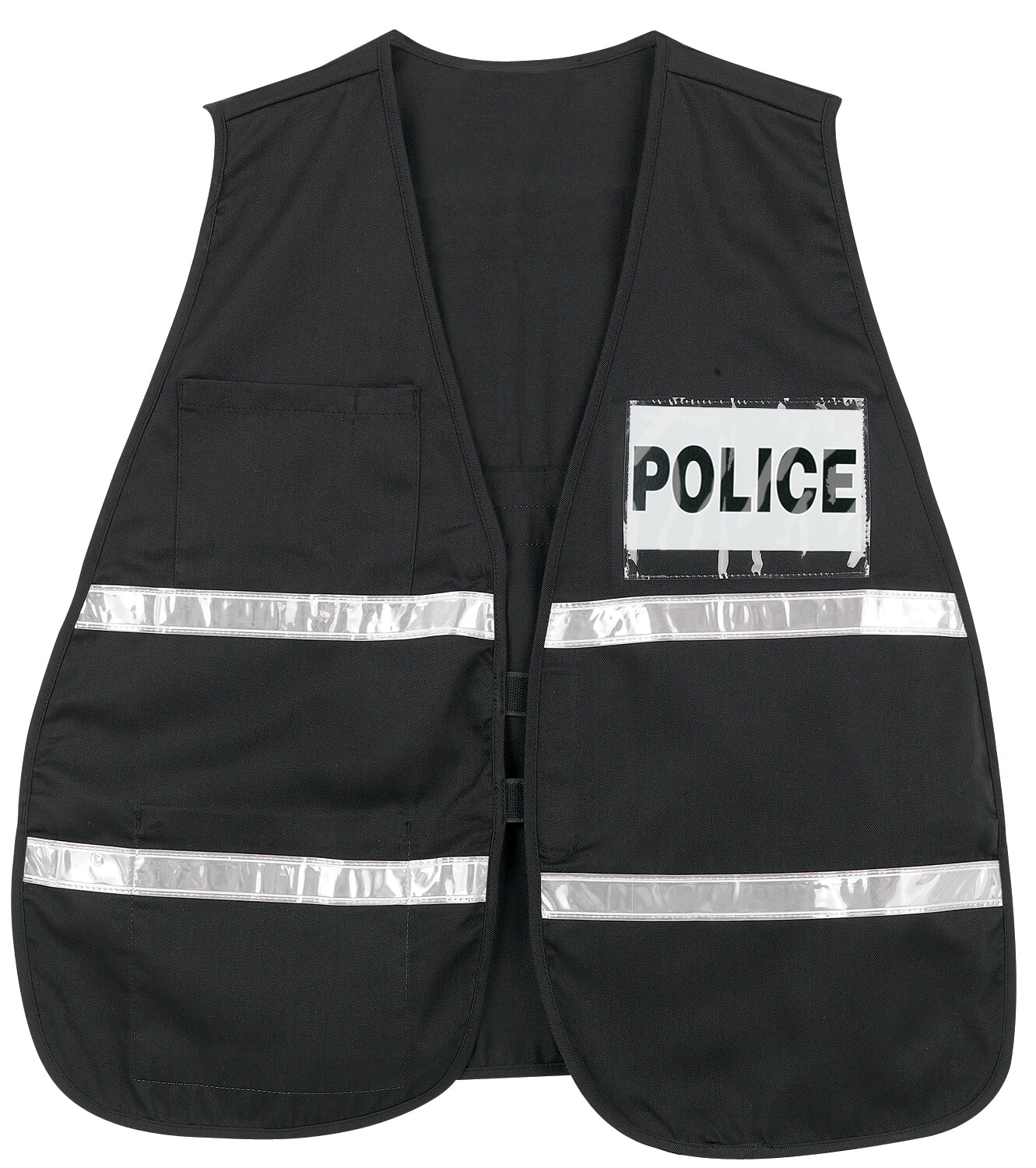 MCR River City ICV207 Incident Vest, Black, White Reflective Black