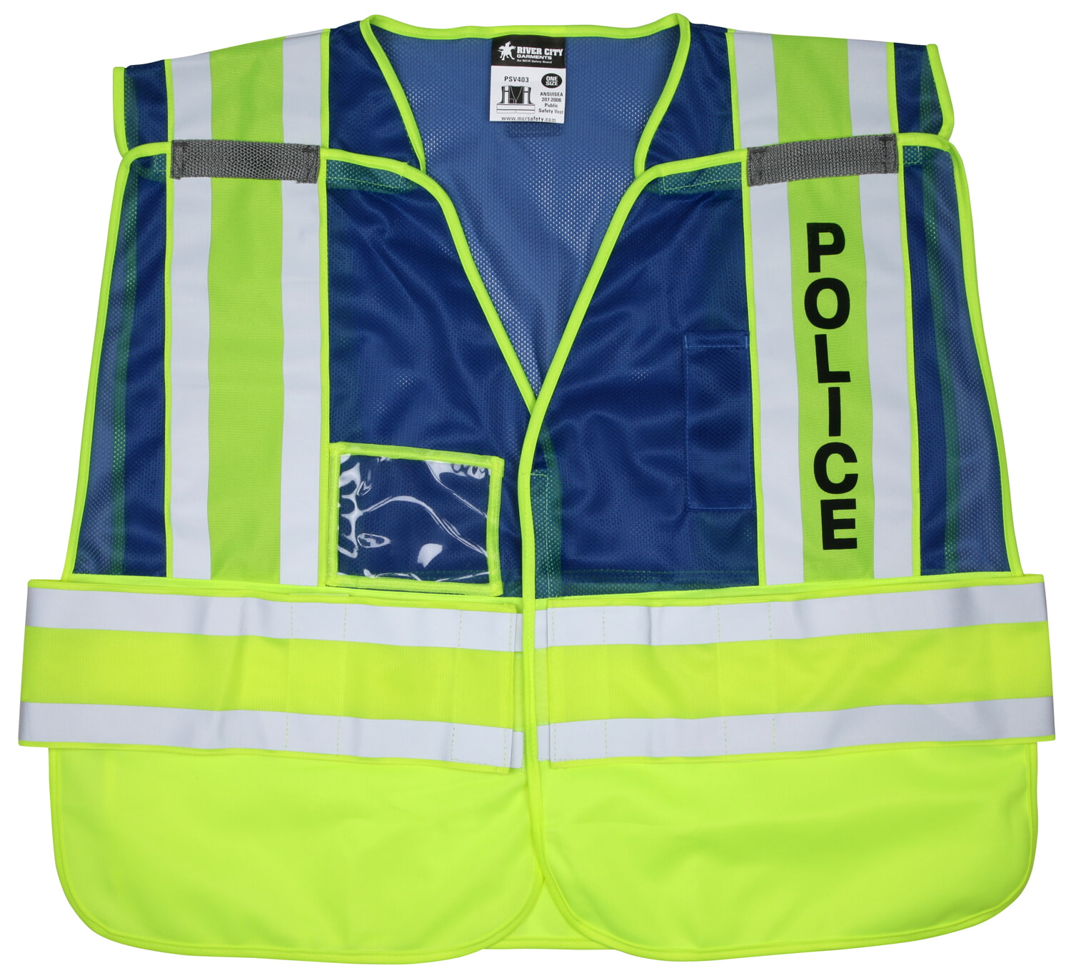 MCR River City PSV403 Public Safety, Vest, Adjustable Mesh, Police