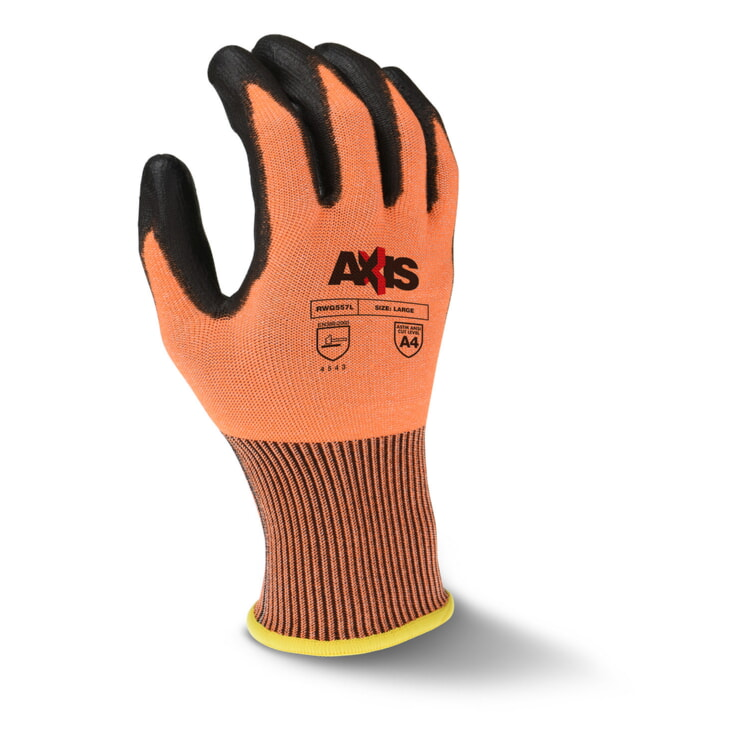 Radians RWG557 High Tenacity Nylon Cut Protection Level A4 Work Gloves 13-Gauge