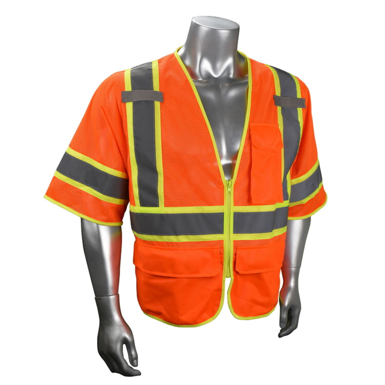 RADIANS SV272-2ZOM Multi-Purpose Surveyor Class 3 Safety Vest-Orange