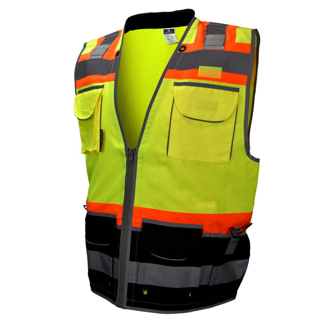 Radians SV55B Class 2 Black Bottom Mesh Engineer Vest
