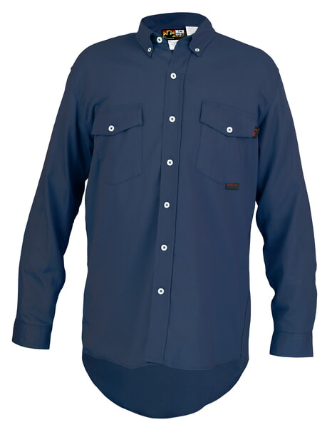 MCR Safety S1NM FR Long Sleeve Work Shirt Navy