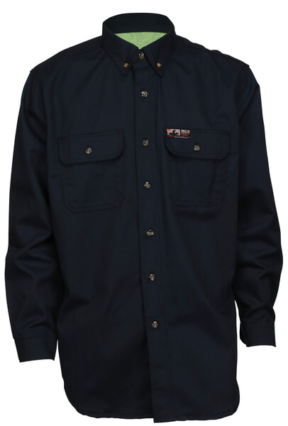 MCR Safety SBS2002S Summit Breeze Shirt 7.0 oz. Cotton Navy
