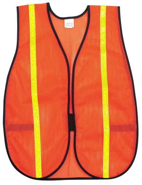 MCR River City V211RXL Poly, Mesh Safety Vest, 1