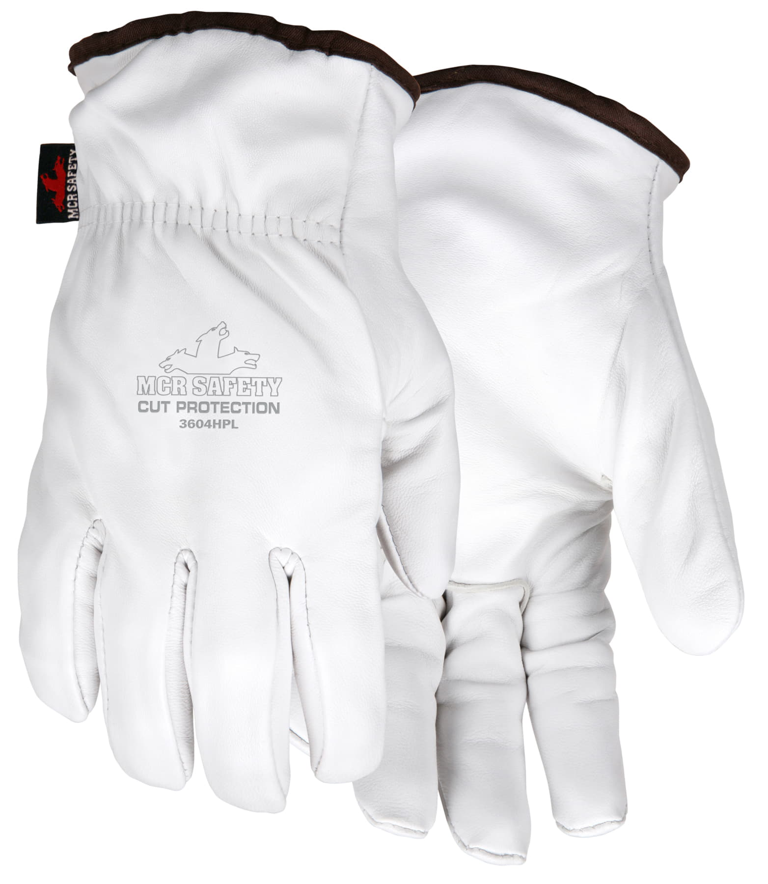 MCR Safety 3604HP Goatskin Leather Cut Protection A8 glove