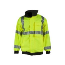 Neese 94001-01-1-LIM Green High Visibility Bomber Jacket with Removable Liner