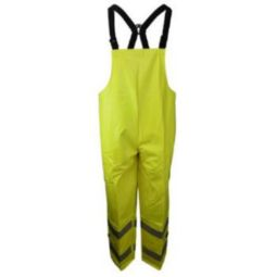 Neese 26267-12-1-HLI Hi Viz Green Rain Bibs Ideal for Incidental Arc Hazard and Flash Fire