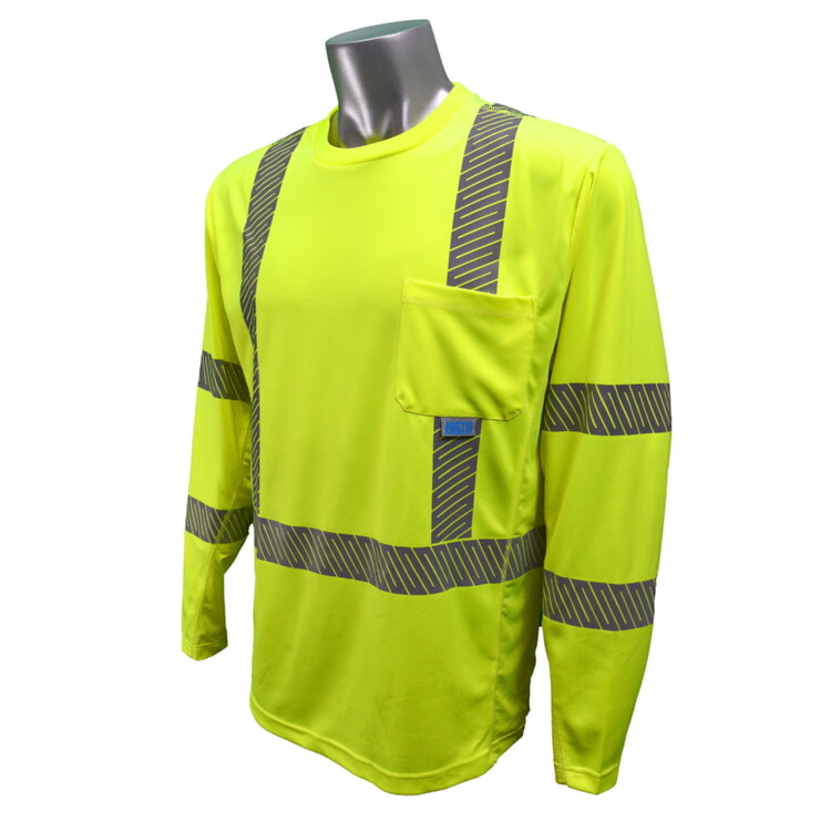 Radians ST31-3PGS Class 3 HiViz Cooling & Wicking T-shirt Long