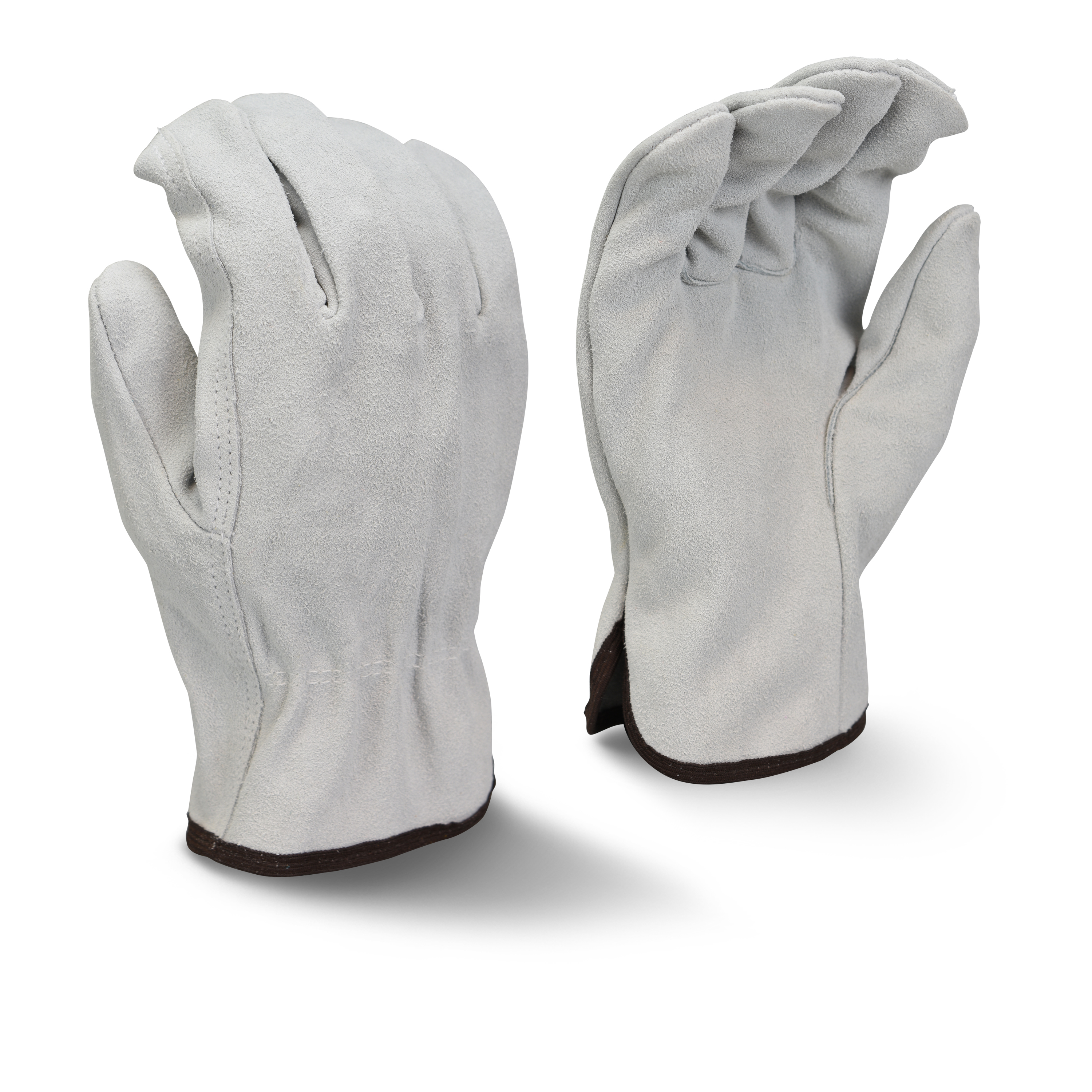 Radians RWG4010 Economy Grade Gray Split Cowhide Leather Driver Gloves
