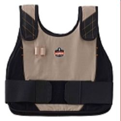Ergodyne Chill-Its 6215 Phase Change Premium Cooling Vest w/ Packs - Khaki