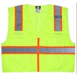 MCR Safety SURVML Class 2, Poly Mesh Vest, 3
