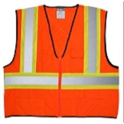 MCR Safety VWCCS2O CSA Poly,  Vest 4 1/2 /Silver  Lime