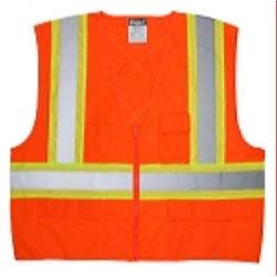 MCR Safety WCCS2O CSA Hi-Vis  Vest, 4.5  - Silver  Orange
