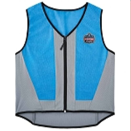Ergodyne Chill-Its 6667 Wet Evaporative Cooling Vest - PVA - Blue