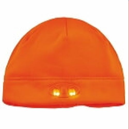 Ergodyne 6804 Orange Skull Cap Beanie Hat with LED Lights