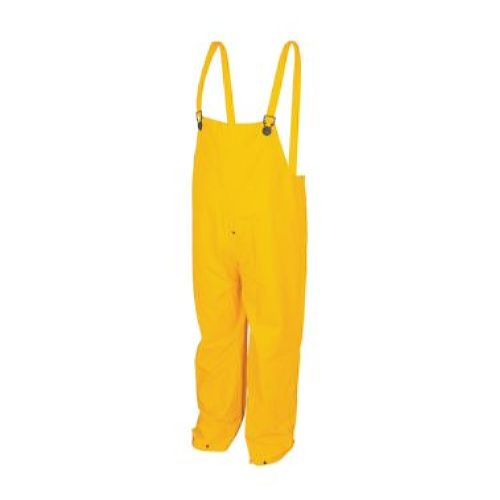 MCR Safety 200BP Classic, .35mm, PVC/Poly, Bib Pants with Fly Front Yellow 1 Pc Bib