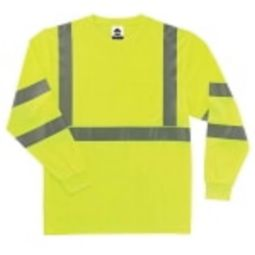 Ergodyne  8391-LIME Class 3  Hi VIS Long Sleeve Shirt - Green