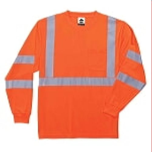Ergodyne  8391-ORANGE Class 3  Hi VIS Long Sleeve Shirt - Orange