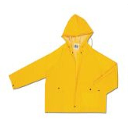 MCR Safety 220JH Classic, .35mm, PVC/Poly, w/Zipper Yellow 1 Pc Jacket