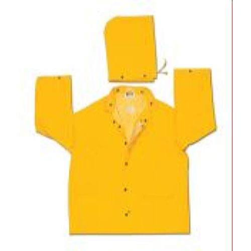 MCR Safety 240J Classic Plus, .35mm, PVC/Polyester, Detachable Hood, Corduroy Collar, Yellow 2 Pc Jacket