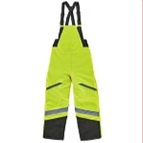 Ergodyne 8928 Green High Visibility Class E Insulated Bibs