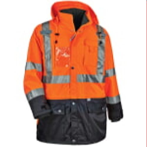 Ergodyne 8388 Orange-Black Bottom High Visibility Thermal 4-In-1 Jacket Kit Class 3 Performance