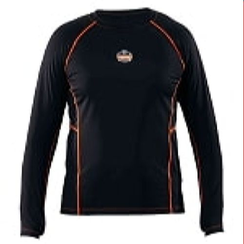 Ergodyne 6435-BLACK Black Thermal Base Layer Shirt