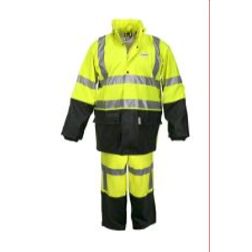 MCR Safety 5182 .40mm Stretch Pu/Cotton Poly Lime 2 Pc Suit