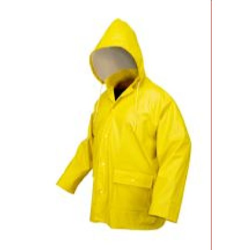 MCR Safety 5182Y Navigator, .40mm PU/Knitted polyester, Detatchable hood, Snap Front & Bib Pant Yellow 3 Pc Suit