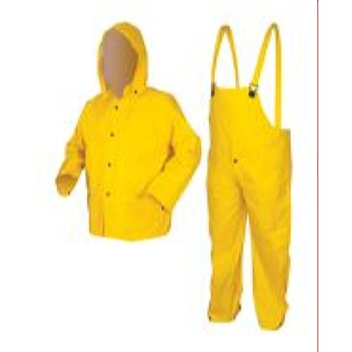 MCR Safety 6003 Commodore, PVC/Non-Woven Poly/Nylon,ui Yellow 3 Pc Suit