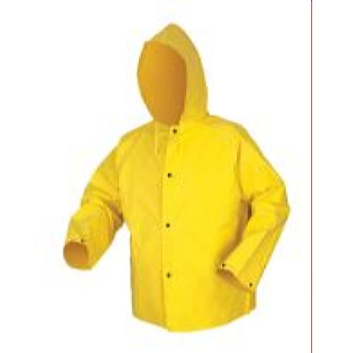 MCR Safety 800JH Concord, .35mm, Neoprene/Nylon, w/Hood Yellow 1 Pc Jacket