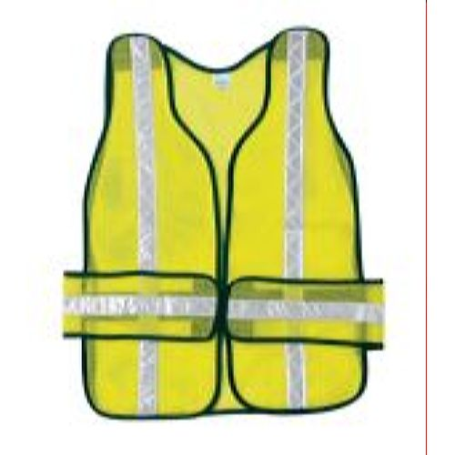 MCR River City CHEV2L Break Away Non-Rated Vest, Polyester Mesh, Chevron pattern 1 3/8