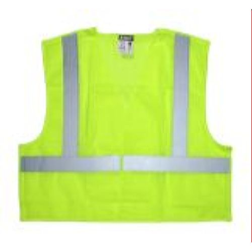 MCR Safety CL2ML Class 2, Tear-Away, Poly Safety Vest, Lime