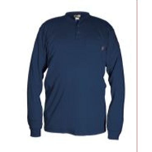 MCR Safety H1NS FR Long Sleeve Henley Navy
