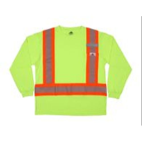 MCR Safety LTS1L Long Sleeve T-Shirt, Class 1, Polycotton,   Lime