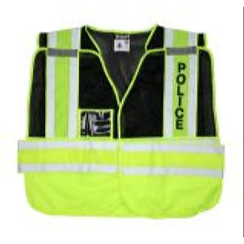 MCR River City PSV402 Public Safety, Vest, Adjustable Black, Mesh, Police