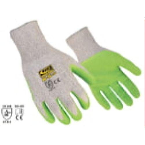 Ringers 055 R-5LD  Cut Level 5  Latex Green Dip Glove